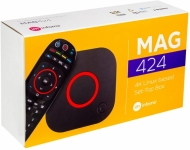 Mag 424 set top box with 1 years subscription 6000 channels and on demand movies and TV series
