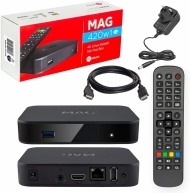 Mag 420 set top box with 1 years subscription 6000 channels and on demand movies and TV series
